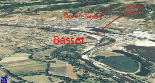 Vue aerienne restituée de la plaine de Bas-en-Basset - mont Malorum