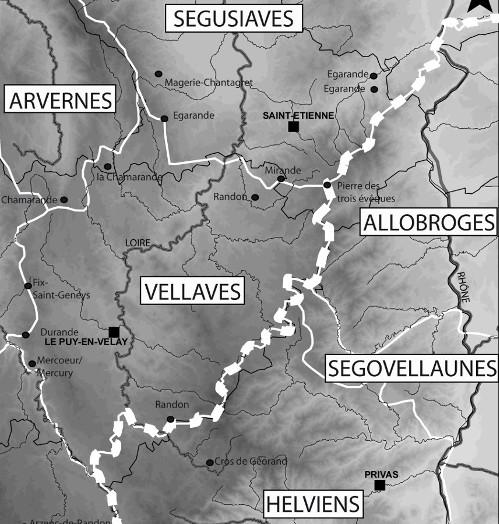 carte-des-peuples-de-la-fin-du-Second-age-du-Fer-dans-le-sud-est-du-Massif-central