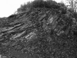 figure 4 - coulée de basalte à l'entrée du site de Largier